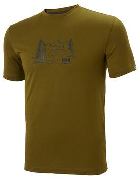 Helly Hansen Skog Graphic T-Shirt Herren Grün