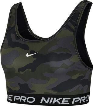 Nike Pro Swoosh Medium Sport BH Damen Schwarz