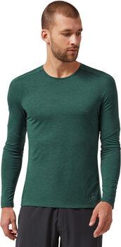 Performance shirt running à manches longues Hommes Vert