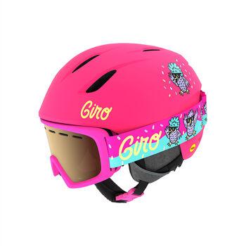Giro Launch Combo Skihelm + Brillen Set Pink