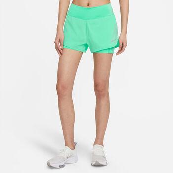 Nike Eclipse 2 in 1 Laufshorts Damen Grün