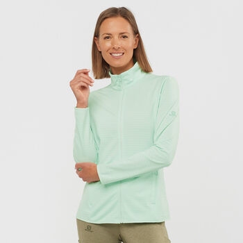 Salomon Outrack Full Zip sweat-shirt Femmes Bleu