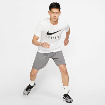 Nike Dri-FIT Trainingsshirt kurzarm Herren Weiss