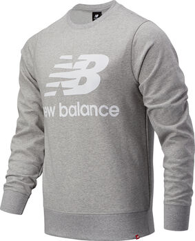 New Balance Essentials Stacked Logo Crew Pullover Hommes Gris