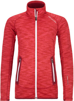 ORTOVOX Fleece Space Dyed Fleecejacke Damen Rot