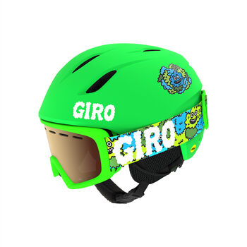 Giro Launch Combo Casque de ski + lunettes de ski Set Vert