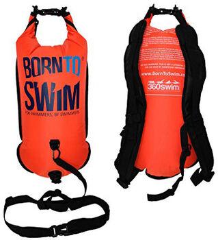 360swim BornTo Swim Sac à dos étanche et Bouée Orange
