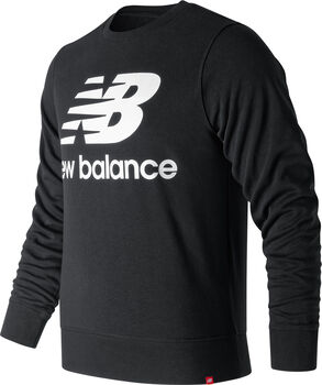 New Balance Essentials Stacked Logo Pullover Herren Schwarz