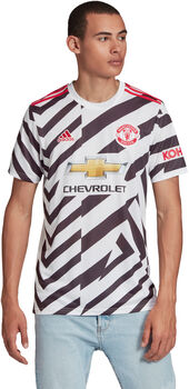 adidas Manchester United 20/21 3R maillot de football Hommes Blanc