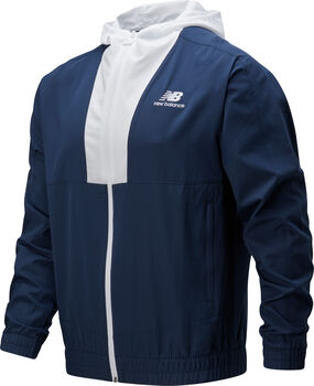 New Balance Athletics Full Zip Windbreaker Herren Blau