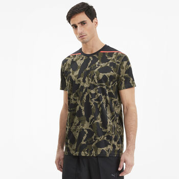 Puma First Mile Camo T-Shirt Herren Grün