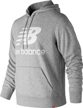 New Balance Essentials Stacked Logo Hoody Herren Grau