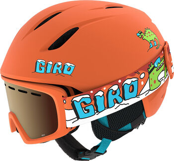 Giro Launch Combo Skihelm + Brillen Set Orange