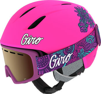 Giro Launch Combo Skihelm + Brille Pink