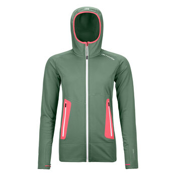 ORTOVOX Fleece Light Hoody Fleecejacke Damen Grün