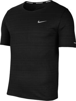 Nike Dri-FIT Miler Laufshirt Herren Schwarz