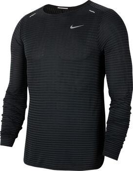 Nike TechKnit Ultra Laufshirt langarm Herren Schwarz