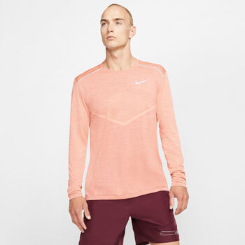 Nike TechKnit Ultra Laufshirt langarm Herren Orange