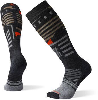 Smartwool PhD Ski Medium Pattern Socken Grau
