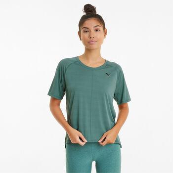 Puma Studio Graphene Relaxed Trainingsshirt Damen Blau