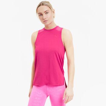 Puma Mesh Panel Tank Top Damen Pink