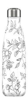 Chilly's FlowersTrinkflasche Weiss