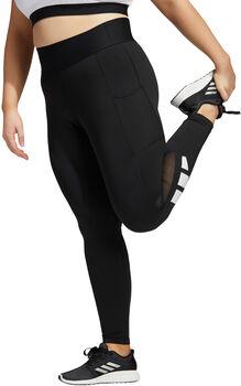 adidas Techfit Long Logo Tights Damen Schwarz