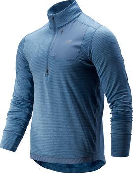 New Balance Heat Quarter Zip Laufshirt langarm Herren Blau