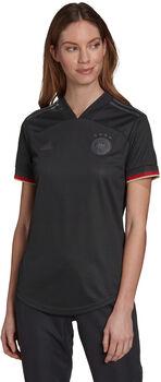 adidas Deutschland Away Replica Fussballtrikot Damen Schwarz