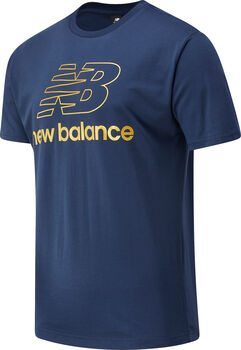 New Balance Athletics Podium Shirt Herren Blau
