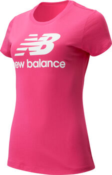 New Balance Essentials Stacked Logo T-Shirt Damen Pink