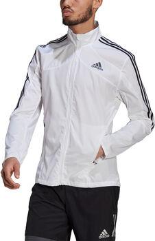 adidas Marathon 3-Stripes Laufjacke Herren Weiss