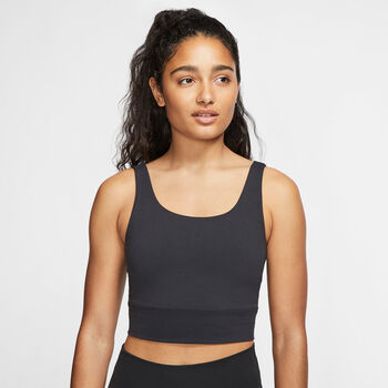 Nike Yoga Lux Tank Top Damen Schwarz