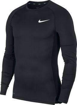 Nike PRO TIGHT Trainingshirt langarm Herren Schwarz
