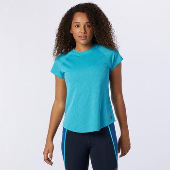 New Balance Q Speed T-Shirt Damen Blau