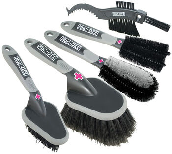 Muc-Off 5 x Brush Ensemble de brosses Gris