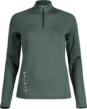 Maloja NaspaeM. T-Zip shirt à manches longues Femmes Vert