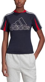 ADIDAS AEROREADY Fitnessshirt Damen Schwarz