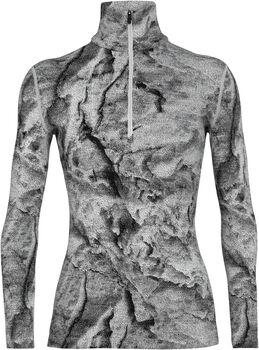 Icebreaker 250 Vertex Half Zip chemise fonctionnelle à manches longues IB Glacier Femmes Blanc