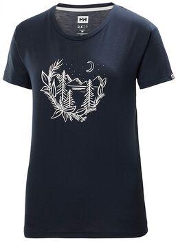 Helly Hansen Skog Graphic T-Shirt Damen Blau