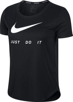 Nike Laufshirt kurzarm Damen Schwarz