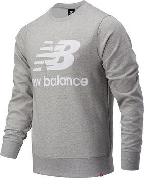 New Balance Essentials Stacked Logo Crew Pullover Herren Grau