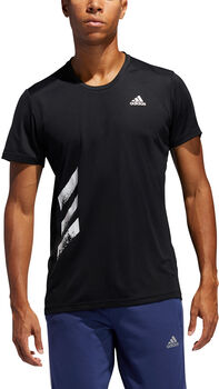 adidas Run It 3-Streifen T-Shirt Herren Schwarz