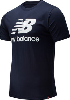 New Balance Essentials Stacked Logo T-Shirt Herren Blau