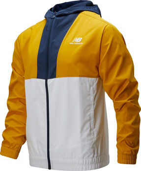 New Balance Athletics Full Zip Windbreaker Herren Gold