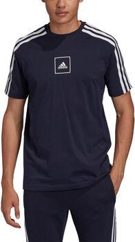 adidas 3 Stripes Tape T-Shirt Herren Schwarz