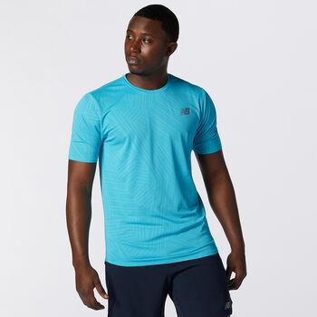 New Balance Q Speed Laufshirt Herren Blau