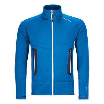 ORTOVOX FLEECE LIGHT Veste polaire Hommes Bleu