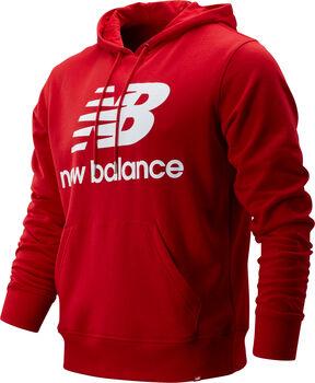 New Balance Essentials Stacked Logo Hoody Herren Rot