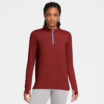 Nike Element Trail Laufshirt langarm Damen Rot